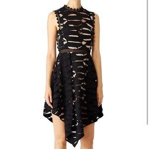 Acler black cut out lace dress ascot  H14